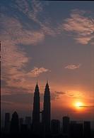 Kuala Lumpur skyline at sunrise, Malaysia