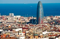 Agbar Tower (142 m. ) by Jean Nouvel, Barcelona. Catalonia, Spain