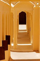 Arched corridors in a palace, City Palace Complex, City Palace, Jaipur, Rajasthan, India