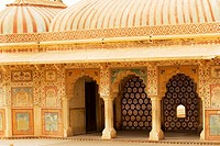 Facade of a fort, Amber Fort, Jaipur, Rajasthan, India