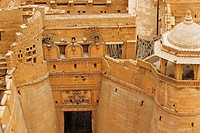 High angle view of a fort, Jaisalmer Fort, Jaisalmer, Rajasthan, India