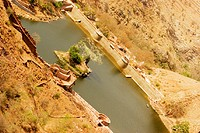 High angle view of a river, Jaigarh Fort, Jaipur, Rajasthan, India