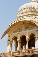 Low angle view of the dome of a museum, Government Central Museum, Jaipur, Rajasthan, India
