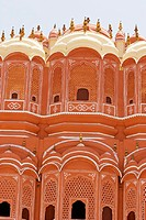 Facade of a palace, Hawa Mahal, Jaipur, Rajasthan, India