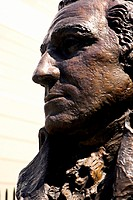Close-up of the face of the statue of George Washington, Washington DC, USA