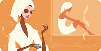 Women in health spa
