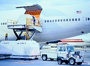 Loading Boxes on Cargo Plane