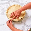 Pinching Pie Crust Closed