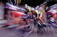 Blur of Bicycle Race
