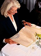 Woman Reading the Menu
