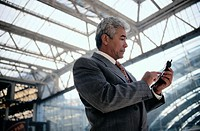 Businessman Using a Cellular Phone