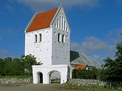Ryde church, western Jutland, Denmark. Typical excample of Danish local parish chursh build in the 12 century