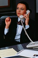 Businesswoman on a Telephone