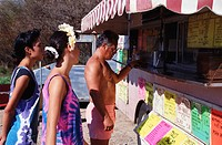 Family at a Shaved Ice Stand