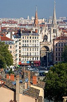 Saint-Nizier church, old Lyon. Rhône-Alpes, France