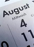 August German Calendar