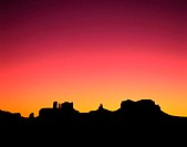 Silhouette of Monument Valley Sandstone Formations