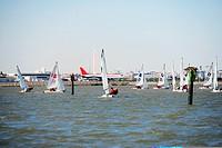 Sailboats in the Potomac River, Ronald Reagan Washington National Airport, Washington DC, USA