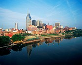 USA, Tennessee, Nashville skyline