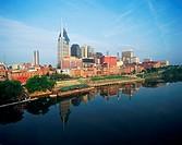 USA, Tennessee, Nashville skyline