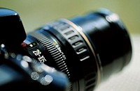 Camera lens, close-up (focus on setting)