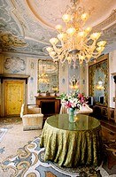 Grand Hotel Bauer (5*). View of a room inside the ancient palazetto on Grand Canal. City of Venice. Venetia. Italy