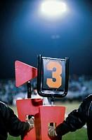 Yardage Marker at Football Game