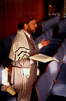 Jewish Man Singing and Praying