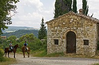 europe, italy, tuscany, to ride in the country around radicondoli
