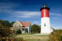 Nauset Lighthouse. Cape Cod National Seashore. Eastham. Massachusetts. USA.
