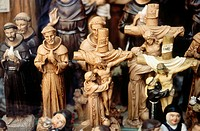 Religious statuettes for sale, Assisi. Umbria, Italy