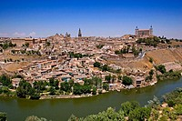 Toledo and Tejo river. Castilla-La Mancha, Spain