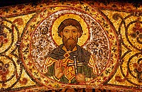 Gold mosaic of a saint. Italy
