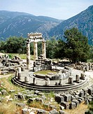 Tholos temple, Sanctuary of Athena Pronaia. Delphi. Greece