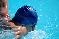 Male Swimmer Swimming Butterfly (thumbnail)
