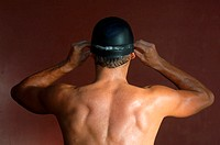 Back of a Male Swimmer