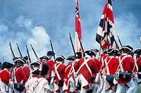 American Revolution: British advance against Continental Army regulars