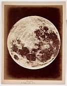 A photograph of the Moon, captioned ´Inverted a little after full´, taken by Lewis Morris Rutherfurd [1816-1892] in about 1858.  An American, Rutherfu...