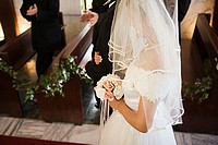 Bride and groom in church (thumbnail)