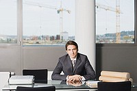 Businessman at desk
