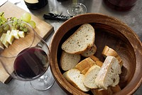 Bread,wine,and cheese