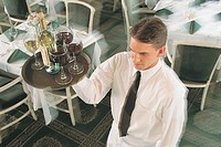 Waiter with drinks