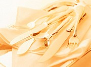 Close Up of Cutlery on a Napkin