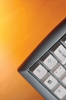 Close-up of keys on a computer keyboard
