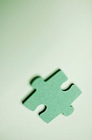 Close-up of a jigsaw piece