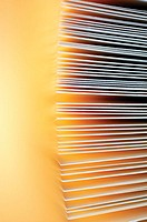 Close-up of a stack of envelopes