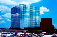 Blue Cross Building with sky reflections in Towson, Maryland