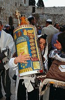 ´Bar Mitzvah´ ceremony. Western Wall. Jerusalem. Israel