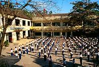 School yard exercise, Nha Trang, Vietnam