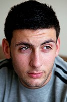 Portrait of a young man,  for use in HIV and Aids,
